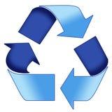 蓝色回收符号 免版税库存图片