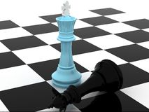 蓝色国王 免版税库存图片