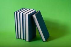 蓝色图书馆 库存照片