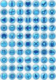 蓝色图标万维网 免版税库存照片
