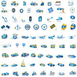 蓝色图标光运输 免版税库存照片