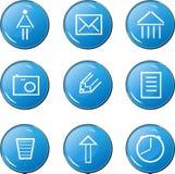 蓝色图标图象 免版税库存照片