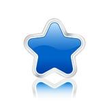 蓝色图标星形 免版税库存图片