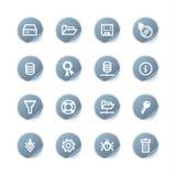 蓝色图标服务器贴纸 免版税图库摄影