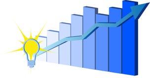蓝色图表向量 免版税库存照片