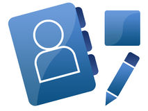 蓝色图象图标网络连接社交 库存照片