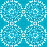 蓝色圆无缝的样式 库存图片