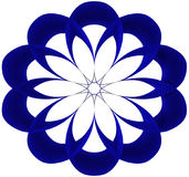 蓝色圆的传染媒介 免版税库存照片
