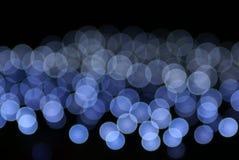 蓝色圆的光 免版税图库摄影