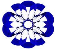 蓝色圆的样式摘要传染媒介 免版税库存照片