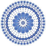 蓝色圆的鞋带 免版税库存照片