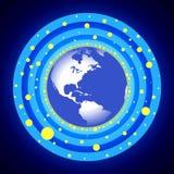 蓝色圈子地球 免版税库存照片