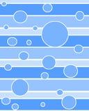 蓝色圈子小点 库存例证
