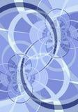 蓝色圈子弯曲的线路 库存例证