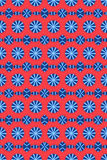蓝色圈子模式红色 免版税库存图片