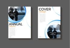 蓝色圈子背景现代盖子设计现代书套吸收 免版税图库摄影