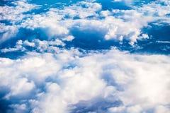 蓝色土块天空 免版税图库摄影