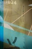 蓝色土质纹理 免版税库存图片