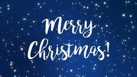 蓝色圣诞快乐贺卡录影 股票录像