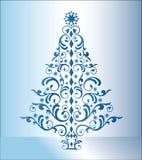 蓝色圣诞树 免版税库存照片