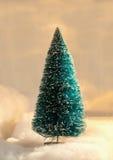 蓝色圣诞树 库存照片
