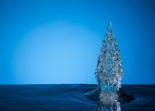 蓝色圣诞树 免版税图库摄影