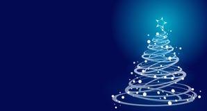 蓝色圣诞树 免版税库存图片