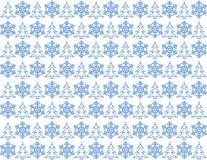 蓝色圣诞灯模式 免版税库存照片
