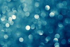 蓝色圣诞灯 免版税库存图片