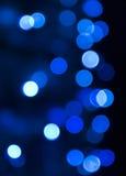 蓝色圣诞灯 库存照片
