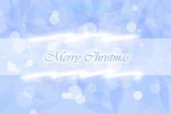 蓝色圣诞节例证 免版税库存照片