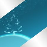 蓝色圣诞节例证 库存照片