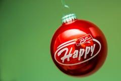 蓝色圣诞节地球 免版税库存照片