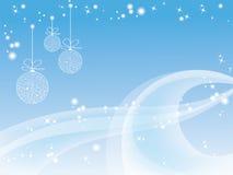 蓝色圣诞节墙纸 库存图片