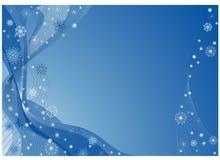 蓝色圣诞节幻想 免版税库存图片