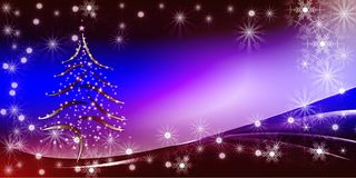 蓝色圣诞节明亮的梯度背景 库存图片