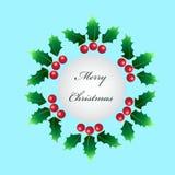 蓝色圣诞节框架魔术 库存照片