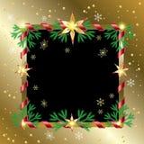蓝色圣诞节框架魔术 皇族释放例证
