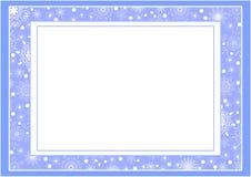 蓝色圣诞节框架 免版税图库摄影