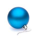 蓝色圣诞节球 免版税库存图片