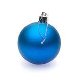 蓝色圣诞节球 库存照片