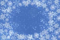 蓝色圣诞节背景 库存例证