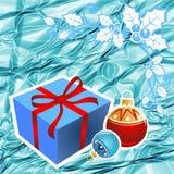蓝色圣诞节背景 免版税图库摄影