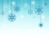 蓝色圣诞节背景 库存图片