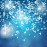 蓝色圣诞节背景 库存照片
