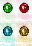 蓝色圣诞节花例证装饰品影子 也corel凹道例证向量 快活的圣诞节 免版税库存图片