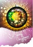 蓝色圣诞节花例证装饰品影子 也corel凹道例证向量 快活的圣诞节 库存照片