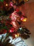 蓝色圣诞节花例证装饰品影子 免版税库存图片