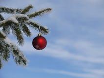 蓝色圣诞节花例证装饰品影子 免版税库存照片