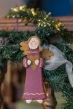 蓝色圣诞节花例证装饰品影子 库存照片